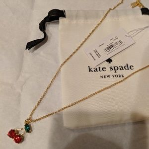 *NWT* ♠️ Kate Spade cherry 🍒 necklace